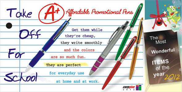 Affordable Promotional Pens.